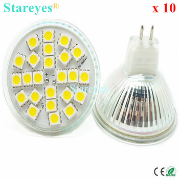 10 pc-uri SMD 5050 24 LED-uri MR16 5W DC12V LED lumina Reflectoarelor bec led corp de iluminat lampa de droplight lampă cu led-uri SMD de iluminat