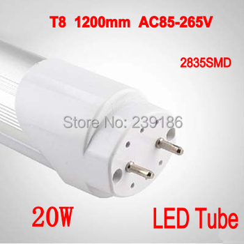 4BUC/Lot Tub LED T8 1200mm 20W AC85-265V 4ft Lampa 2835SMD LED-uri Tub de Lumina Alb Rece/Alb Cald