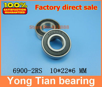 De înaltă calitate, deep groove ball bearing 6900 2RS 6900-2RS 6900RS 6900RZ 61900-2RS 10*22*6 mm 50pcs/lot