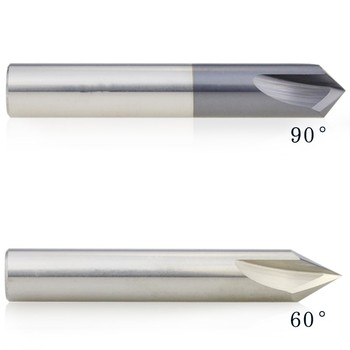 Dia3,4,5,,6,8,10,12 mm solidă carbură de tungsten chamfer end mill 60/90/120 canelură dreaptă freze Aluminiu cnc cutter biți