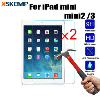 XSKEMP 2 buc/Lot Ultra Clear Reale Tempered Glass Pentru Apple iPad mini 2 3 9H Tableta Protector de Ecran Protector LCD Guard Film